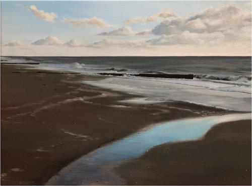 Svantje Miras, Sylt im April, Landschaft: See/Meer, Landschaft: Strand, Realismus, Expressionismus