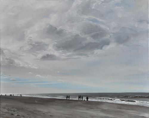 Svantje Miras, Sylt, Landschaft: See/Meer, Landschaft: Strand, Expressionismus