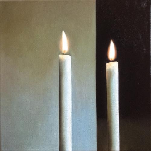 Svantje Miras, Richters Kerzen 04/2, Stilleben, Symbol, Expressionismus