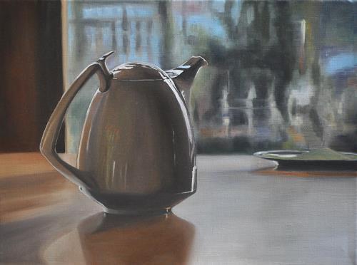 Svantje Miras, Gropius Kanne, Blick aus dem Fenster, Stilleben, Situationen, Realismus, Expressionismus