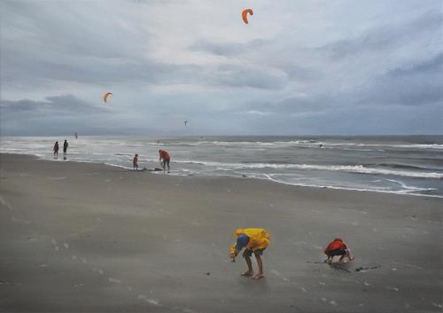 Svantje Miras, Sankt Peter Ording im Sommer II, Landschaft: See/Meer, Landschaft: Strand
