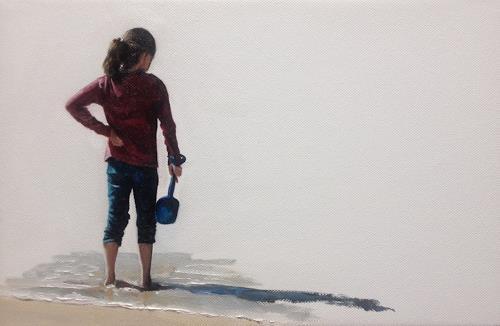Svantje Miras, Mädchen am Strand, Menschen: Kinder, Situationen, Expressionismus