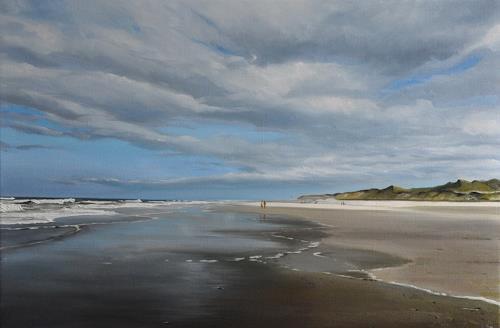 Svantje Miras, Sylt am Ellenbogen im April, Landschaft: See/Meer, Landschaft: Strand, Realismus, Expressionismus