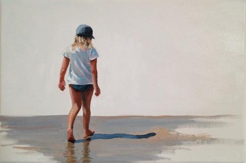Svantje Miras, Mädchen am Strand, Landschaft: See/Meer, Landschaft: Sommer