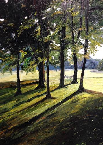 Svantje Miras, Bürgerpark in Bremen, Natur: Wald, Landschaft: Frühling, Expressionismus