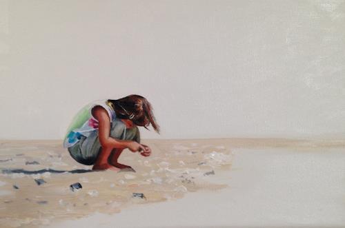 Svantje Miras, Mädchen am Strand, Menschen: Kinder, Landschaft: Strand