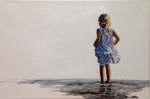 Svantje Miras, Mädchen am Strand, Menschen: Kinder, Menschen: Familie, Expressionismus