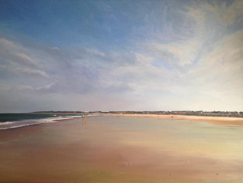 Svantje Miras, Costa de la Luz, Morgenspaziergang, Landschaft: Sommer, Landschaft: Strand, Expressionismus