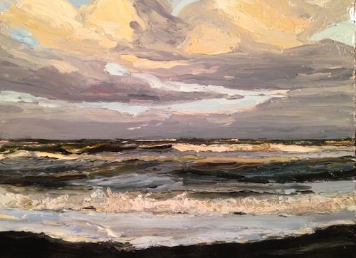 Svantje Miras, Himmel und Meer, Landschaft: Strand, Landschaft: See/Meer, Expressionismus