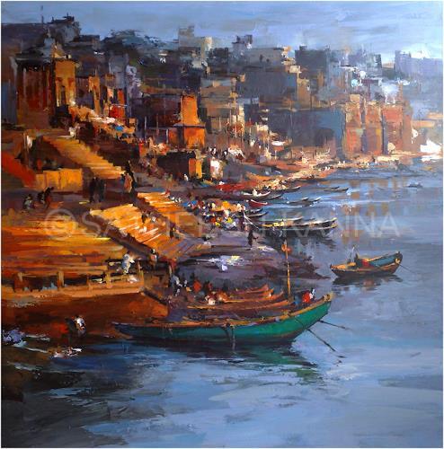 satheesh kanna, Varanasi, Diverse Landschaften, Natur: Diverse, Expressionismus, Abstrakter Expressionismus