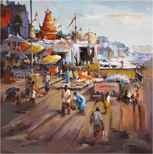 satheesh kanna, Varanasi, Diverse Landschaften, Natur: Diverse, Expressionismus