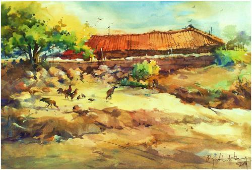 satheesh kanna, Indian Village, Diverse Landschaften, Natur: Diverse, Expressionismus