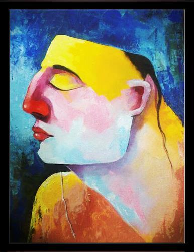 Ranjit Sathe, santh, Abstraktes, Konzeptkunst, Abstrakter Expressionismus