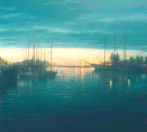 Celso Martinez Naves, Puerto del Norte, Natur: Wasser, Landschaft: See/Meer, Realismus, Expressionismus