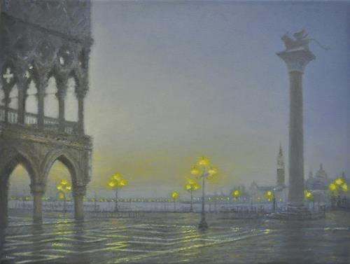Celso Martinez Naves, Venedig 2, Architektur, Realismus, Expressionismus