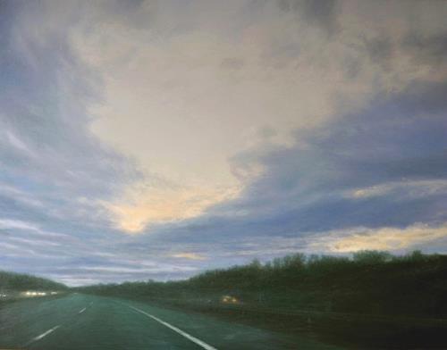 Celso Martinez Naves, A 35-2, Landschaft: Sommer, Verkehr: Auto, Realismus