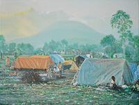 Celso-Martinez-Naves-Landschaft-Berge-Menschen-Gruppe-Neuzeit-Realismus