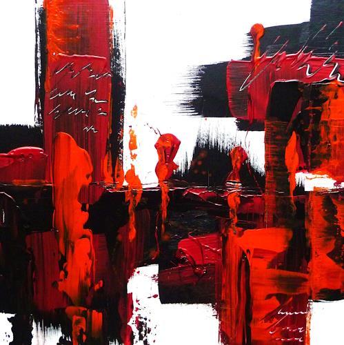 Petra Wendelken, Spiegelung der Gefühle 1, Abstraktes, Abstrakte Kunst