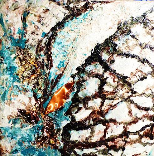 Petra Wendelken, Rinnsal 3, Abstraktes, Abstrakte Kunst, Moderne