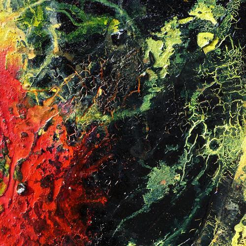 Petra Wendelken, Die Wiege der Sonne (Detailansicht), Abstraktes