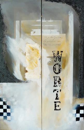 Petra Wendelken, Worte, Abstraktes, Abstrakte Kunst