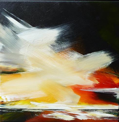 Petra Wendelken, Der Himmel über uns, Landschaft: See/Meer, Expressionismus, Abstrakter Expressionismus