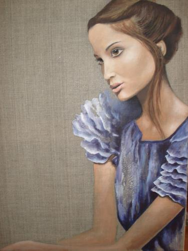 Christine Oster, Junge Frau, Menschen: Porträt, Menschen: Frau, Gegenwartskunst, Expressionismus