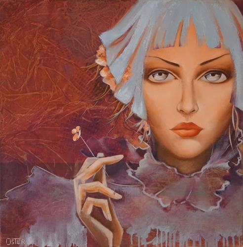 Christine Oster, ... in blau, Fantasie, Menschen: Porträt, Realismus