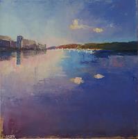 Christine-Oster-Landschaft-See-Meer-Romantik-Sonnenuntergang-Neuzeit-Realismus