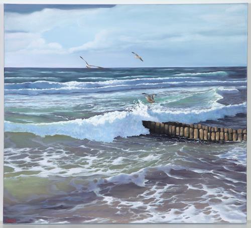 Christine Oster, Nordsee, Landschaft: See/Meer, Natur: Wasser, Naturalismus