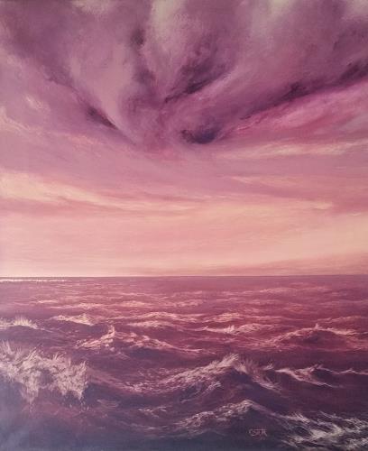 Christine Oster, Tanz der Wellen, Natur: Wasser, Landschaft: See/Meer, Gegenwartskunst