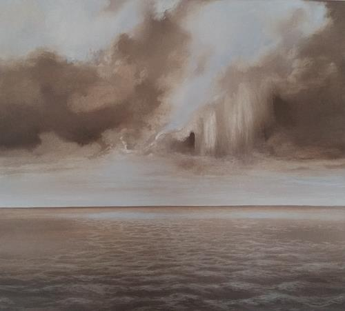 Christine Oster, See, Landschaft: See/Meer, Natur, Realismus