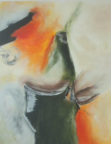 Christa Geßwagner, Acryl auf Leinen, Abstraktes