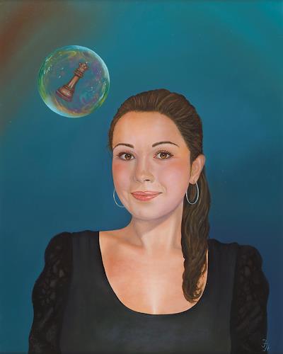 Irene Haas, Schachspielerin, Menschen: Porträt, Menschen: Frau, Realismus, Expressionismus