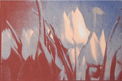Irene Giesser, Tulpen rotblau, Dekoratives