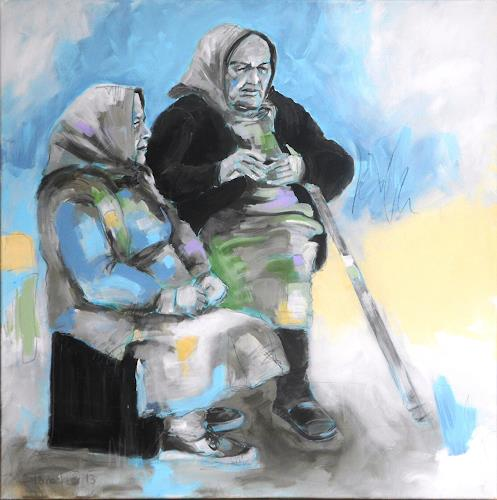 Michaela Steinacher, es war einmal..., Gesellschaft, Menschen: Frau, Gegenwartskunst, Expressionismus