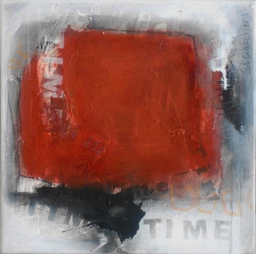Michaela Steinacher, Time, Abstraktes, Symbol, Gegenwartskunst, Abstrakter Expressionismus