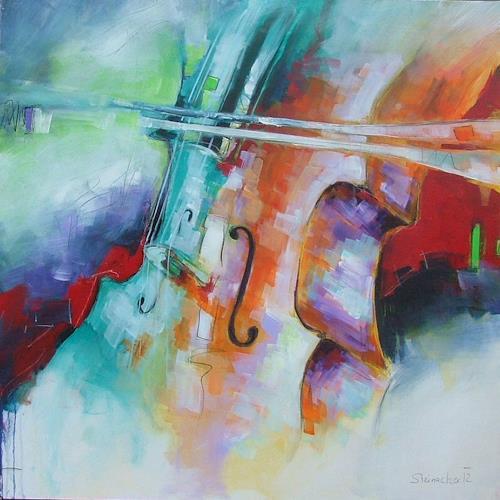 Michaela Steinacher, Musik liegt in der Luft, Musik: Instrument, Abstraktes, Gegenwartskunst