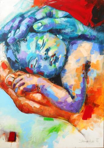 Michaela Steinacher, Neuanfang, Gefühle: Liebe, Stilleben, Gegenwartskunst, Expressionismus