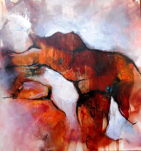 Michaela Steinacher, torso, Menschen: Frau, Akt/Erotik: Akt Frau, Expressionismus