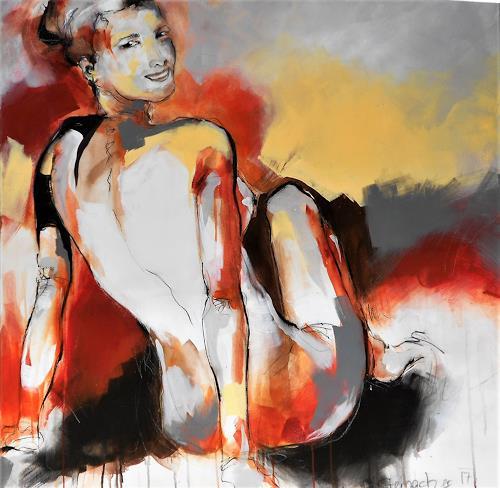 Michaela Steinacher, have a look, Menschen: Frau, Akt/Erotik: Akt Frau, Abstrakte Kunst, Expressionismus