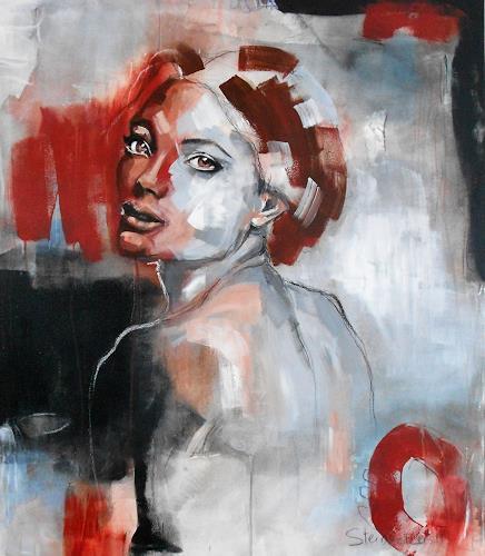 Michaela Steinacher, Lady, Menschen: Gesichter, Menschen: Porträt, Gegenwartskunst, Expressionismus