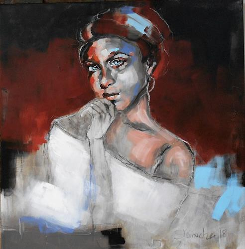 Michaela Steinacher, Lady II, Menschen: Porträt, Menschen: Gesichter, Gegenwartskunst, Expressionismus