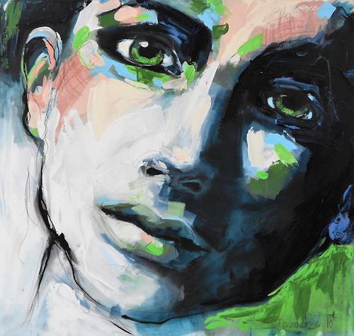 Michaela Steinacher, look at me, Menschen: Gesichter, Abstraktes, Abstrakte Kunst, Expressionismus
