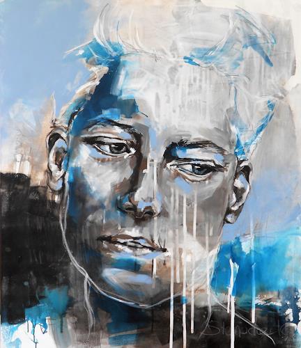 Michaela Steinacher, why so sad II, Menschen: Frau, Menschen: Gesichter, Abstrakte Kunst
