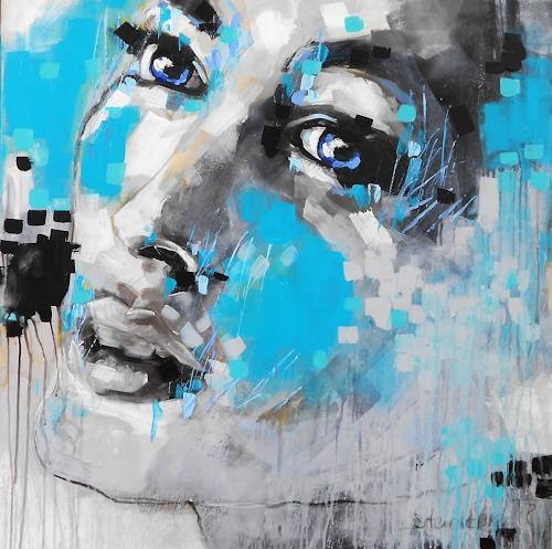 Michaela Steinacher, eyes V, Menschen, Menschen: Gesichter, Abstrakte Kunst, Abstrakter Expressionismus