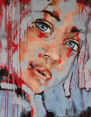 Michaela Steinacher, ich vertraue dir, Menschen: Gesichter, Menschen, Abstrakte Kunst