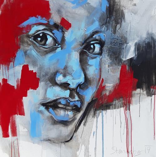Michaela Steinacher, überrascht, Menschen: Gesichter, Menschen: Porträt, expressiver Realismus