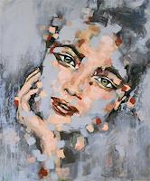 Michaela-Steinacher-Menschen-Gesichter-Menschen-Portraet-Moderne-Expressionismus-Abstrakter-Expressionismus