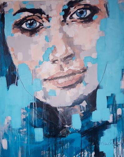 Michaela Steinacher, im verborgenen, Menschen: Porträt, Menschen, Abstrakte Kunst